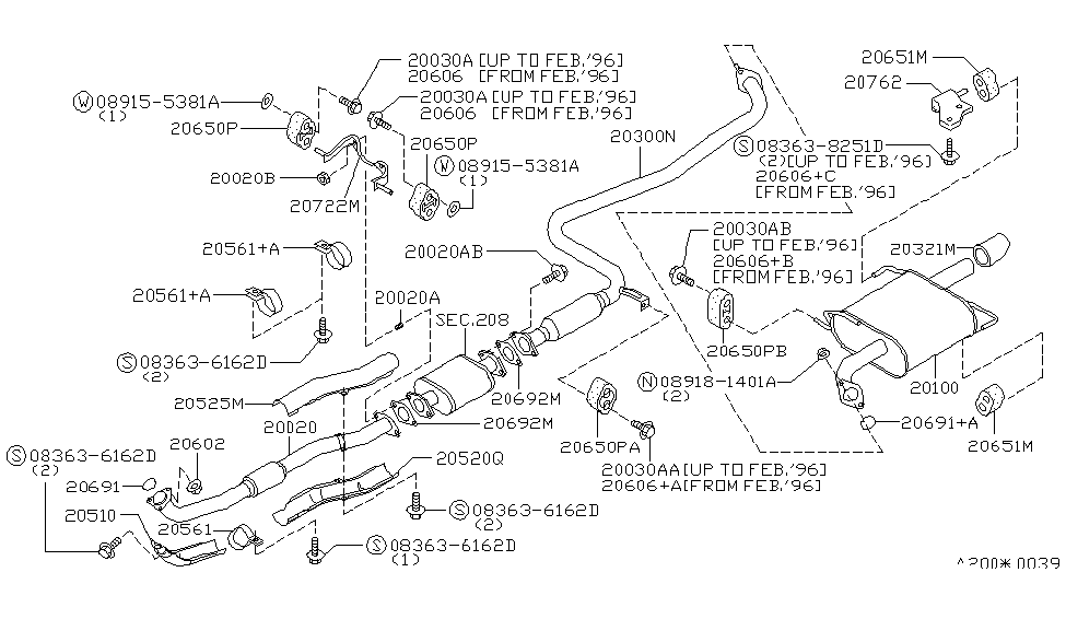 20010 5b800 genuine nissan 200105b800 tube assy exhaust,front Nissan Altima Headlight Diagram 1996 nissan altima exhaust tube \u0026 muffler