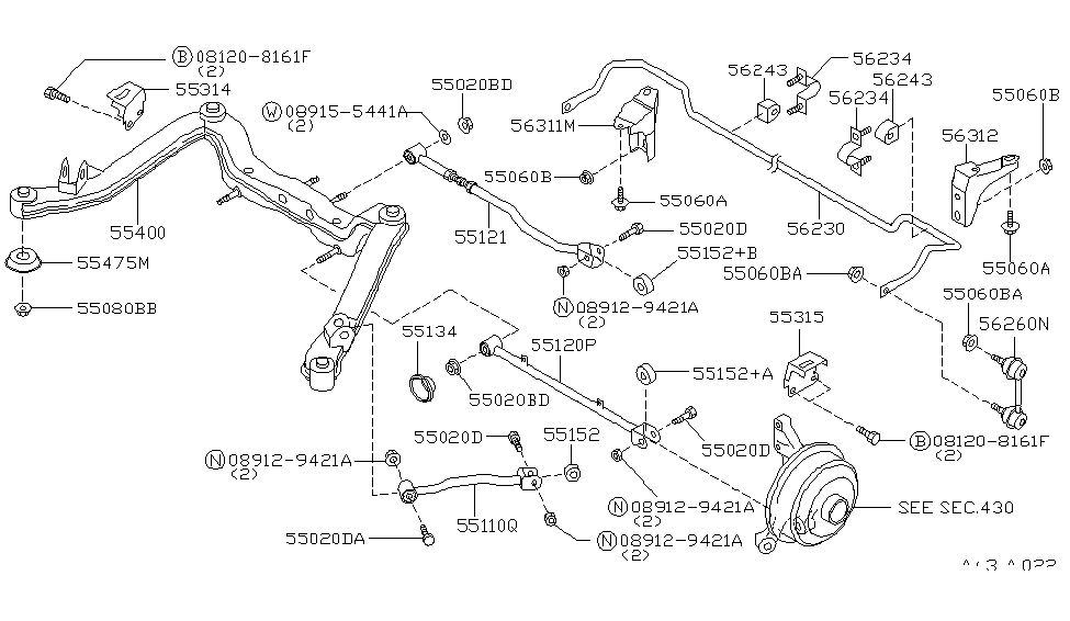 55400-0E100 - Genuine Nissan Parts