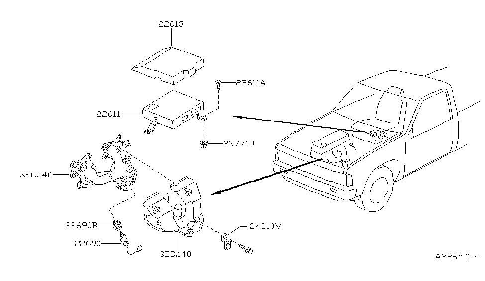 1997 Nissan Hardbody Pickup (D21U) Engine Control Module