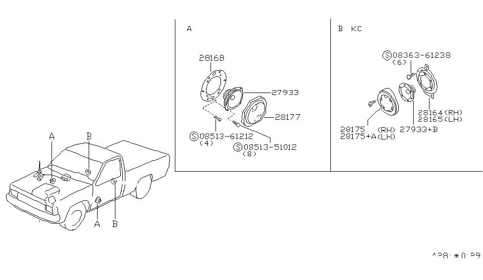 1997 Nissan Hardbody Pickup (D21U) Speaker - Nissan Parts Deal