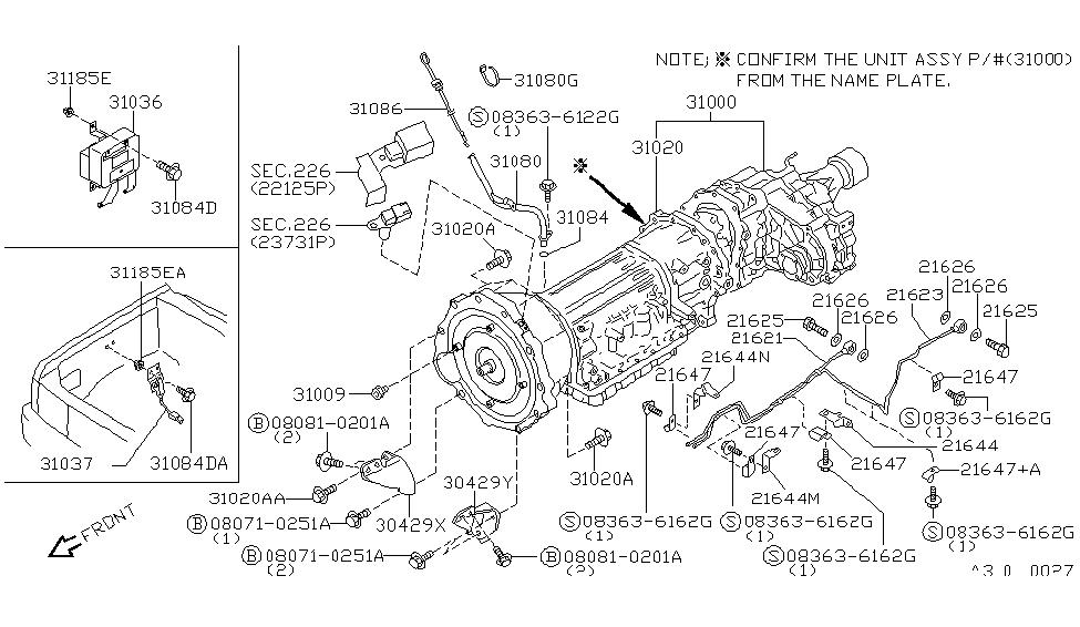 31036-75P10 | Genuine Nissan #31036-75P10 CONTROL UNIT-SHIFT
