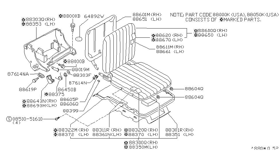 Excellent Nissan 88322 1S703 Pabps2019 Chair Design Images Pabps2019Com
