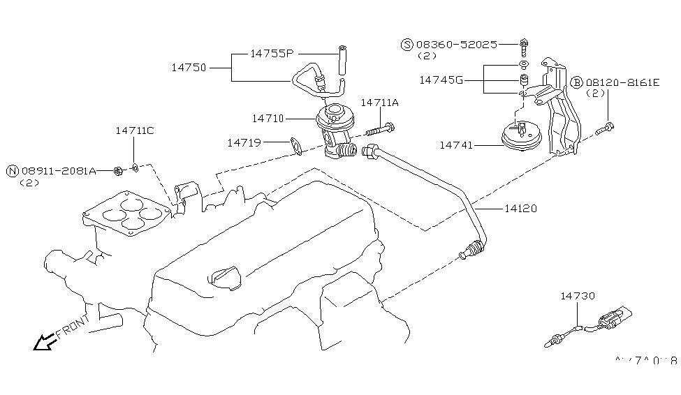 1995 Nissan Hardbody Pickup (D21U) EGR Parts - Nissan Parts Deal