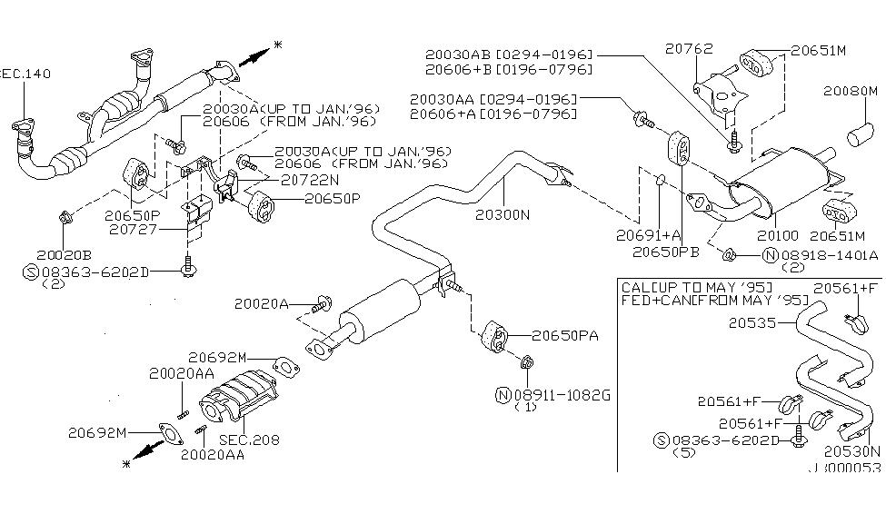 1997 nissan maxima exhaust tube muffler nissan parts deal rh nissanpartsdeal com 2007 nissan versa exhaust system diagram 2006 nissan pathfinder exhaust system diagram