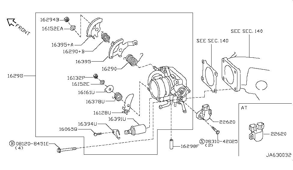 22620 31u00 genuine nissan 2262031u00 throttle position switch rh nissanpartsdeal com nissan xterra body parts diagram nissan d21 throttle body diagram