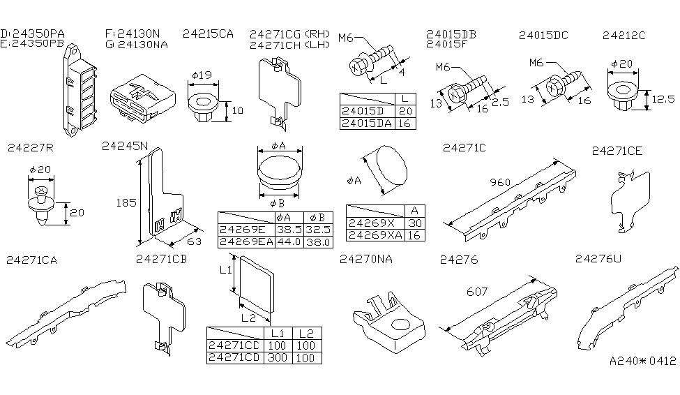 [FPWZ_2684]  24200-40U00 | Genuine Nissan #2420040U00 CLIP-WIRING HARNESS | 1999 Nissan Maxima Wiring Diagram |  | Genuine Nissan Parts