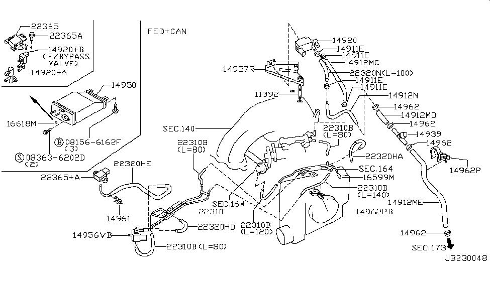 1999 nissan maxima engine control vacuum piping rh nissanpartsdeal com 1998 Nissan Maxima Parts Diagram 1999 Nissan Maxima Belt Diagram
