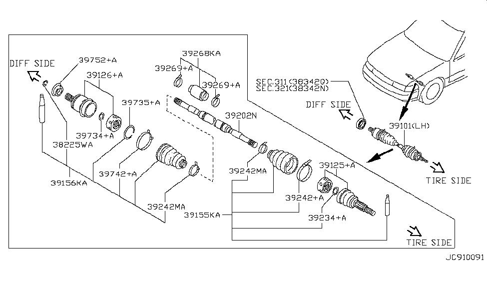 39101-31U01 - Genuine Nissan Parts