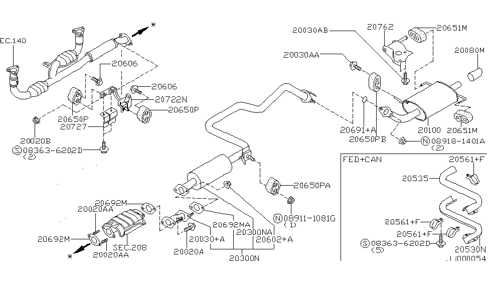 diagram of a 97 maxima engine 1997 nissan maxima exhaust tube   muffler nissan parts deal  1997 nissan maxima exhaust tube