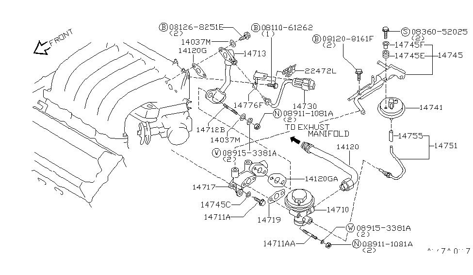 1997 Nissan Maxima EGR Parts - Nissan Parts Deal