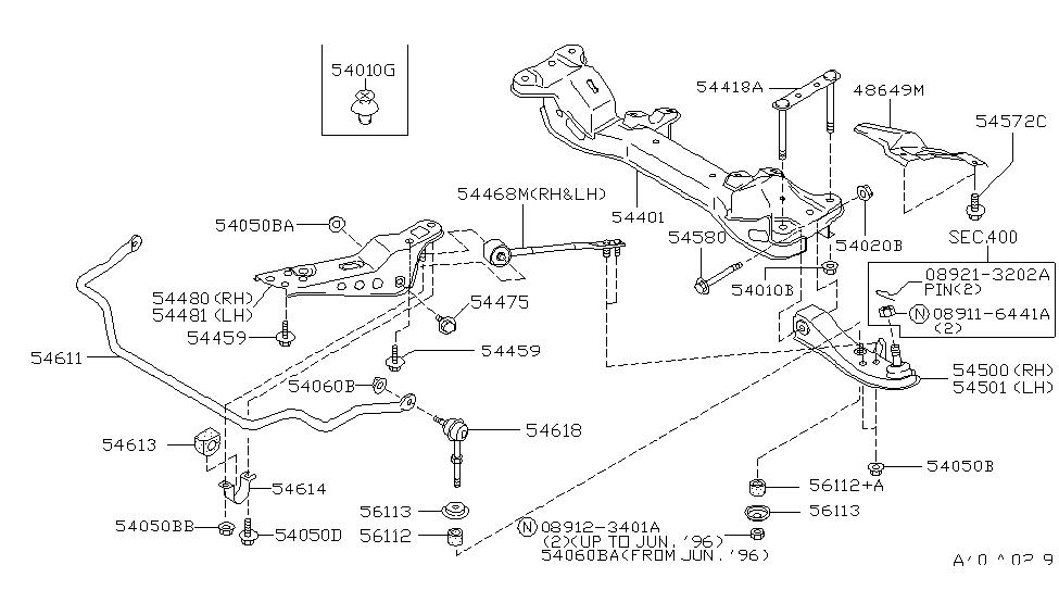 Nissan 54401-65F00