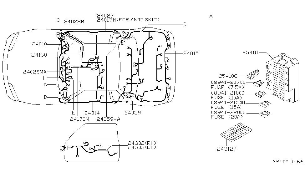 1995 nissan 240sx wiring nissan parts deal rh nissanpartsdeal com 1995 nissan 240sx radio wiring diagram Radio Wiring Harness Diagram