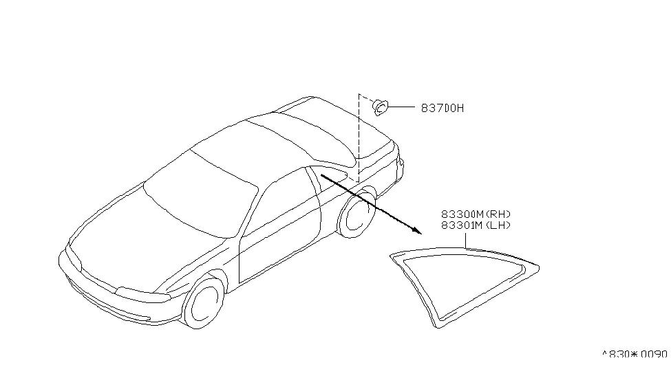 1997 Nissan 240SX Side Window - Nissan Parts Deal