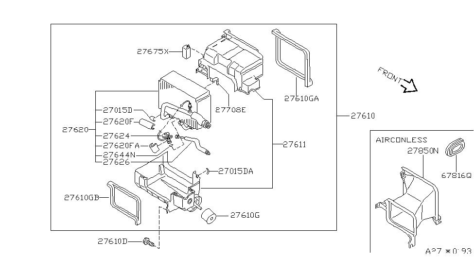 Genuine Nissan Plug-Blind 01658-01671