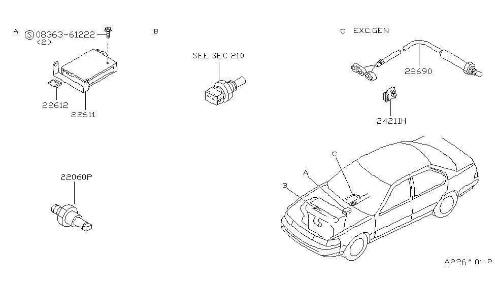 1994 nissan maxima engine diagram