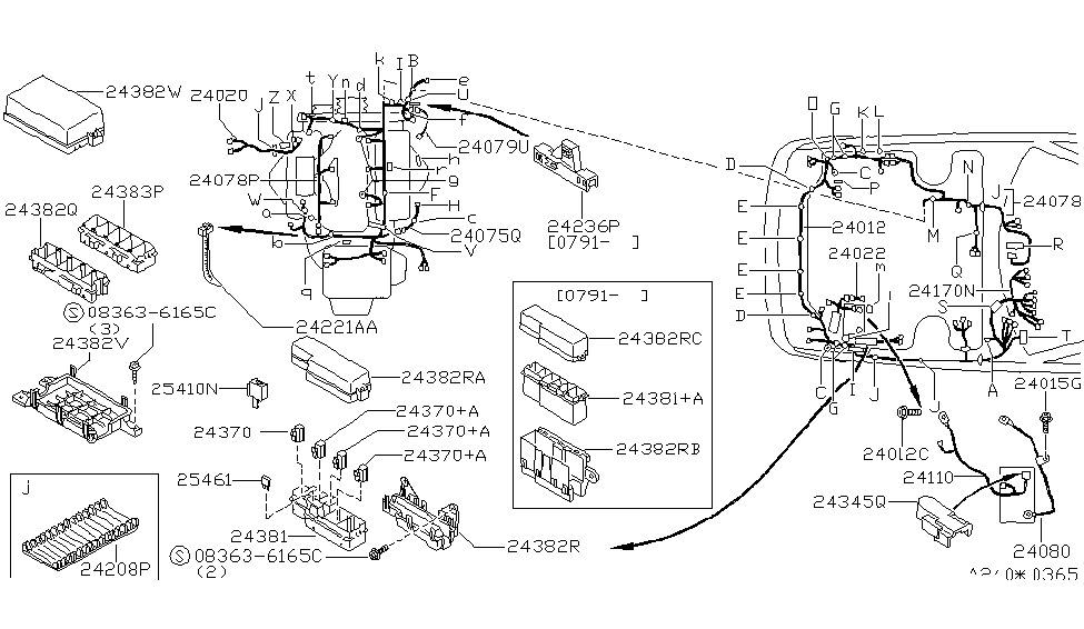 24382 51e15 Genuine Nissan Parts