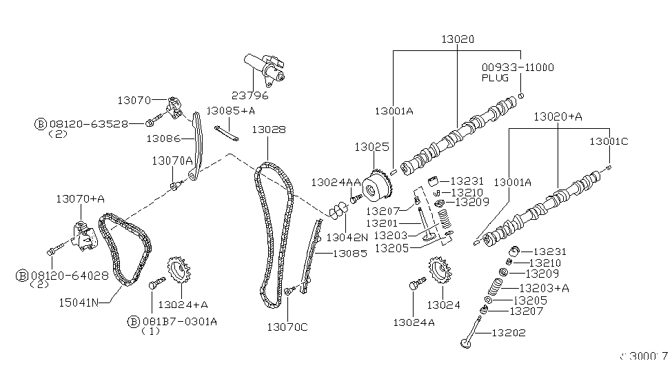 Genuine Nissan 13028-ZS00A Timing Chain