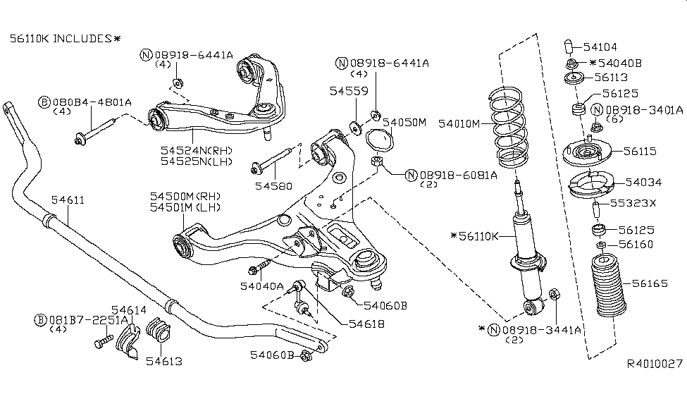 2009 Nissan Frontier Front Suspension