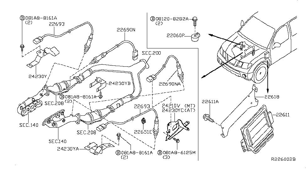 22693 7s000 genuine nissan parts rh nissanpartsdeal com 2007 Nissan Pathfinder Fuse Diagram 2006 Nissan Pathfinder Engine Diagram