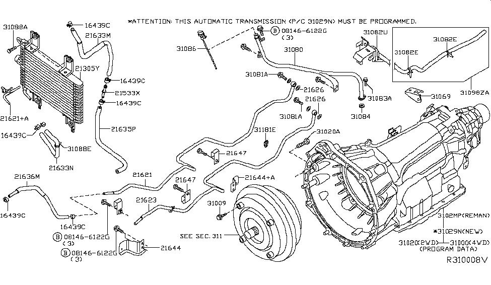 1998 Nissan Frontier Transmission Diagram