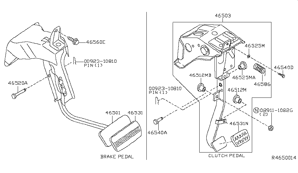 2006 nissan frontier brake clutch pedal nissan parts deal rh nissanpartsdeal com