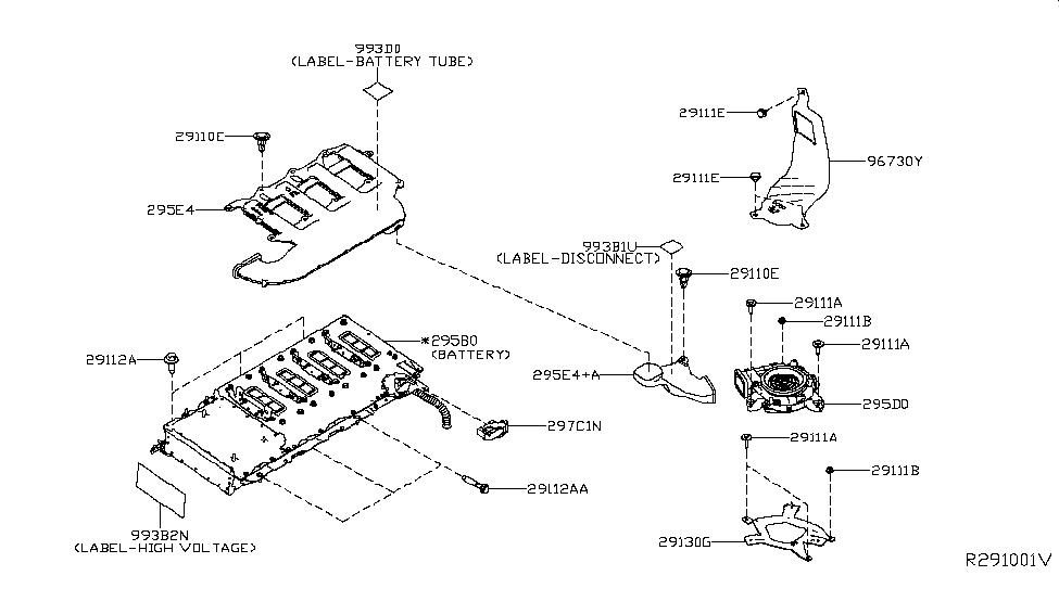 295b0-4bc2a | genuine nissan #295b04bc2a battery pack ... nissan parts diagram battery nissan parts diagrams
