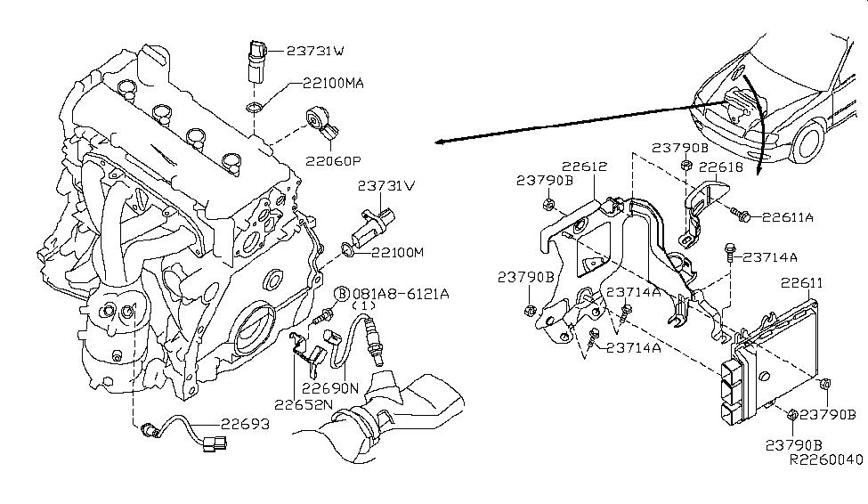 2013 nissan altima sedan engine control module rh nissanpartsdeal com 2004 Nissan Altima Engine Diagram 2005 Nissan Altima Engine Diagram