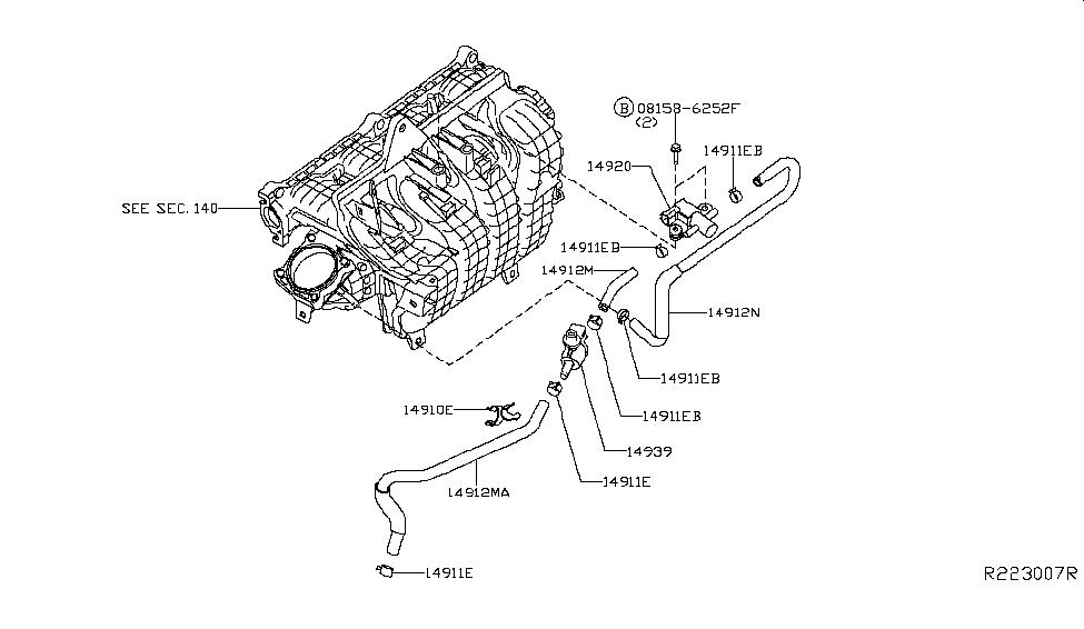 [DIAGRAM_3US]  14912-3TA1A | Genuine Nissan #149123TA1A TUBE EVAP CONTROL | 2013 Nissan Altima Engine Diagram |  | Genuine Nissan Parts