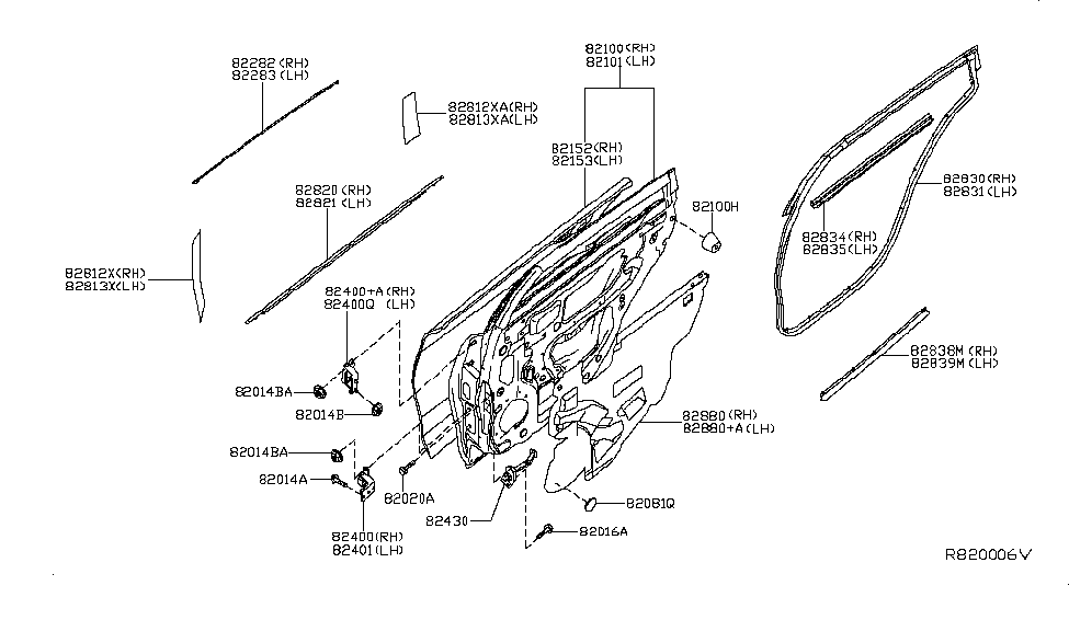 82820-3TA0A - Genuine Nissan Parts