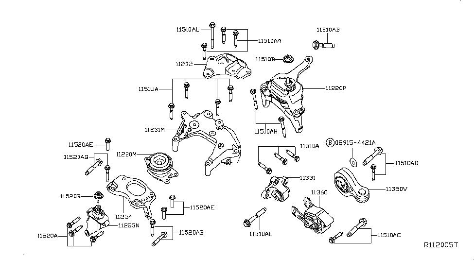 2015 nissan altima sedan engine & transmission mounting