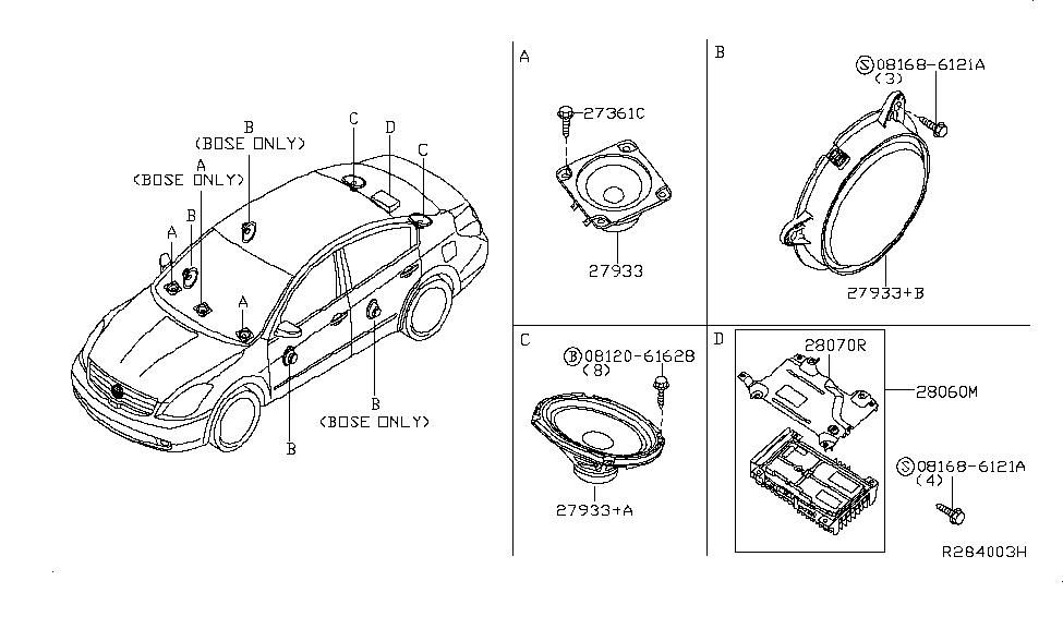 2014 nissan altima s wiring diagram 2014 nissan altima sedan speaker nissan parts deal  2014 nissan altima sedan speaker