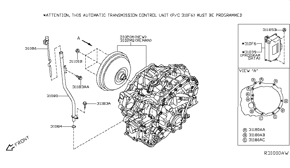 2014 nissan altima sedan auto transmission,transaxle \u0026 fitting2014 nissan altima sedan auto transmission,transaxle \u0026 fitting thumbnail 1
