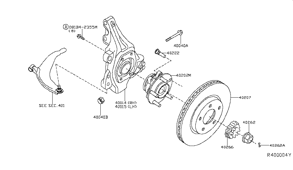 2016 nissan altima sedan front axle