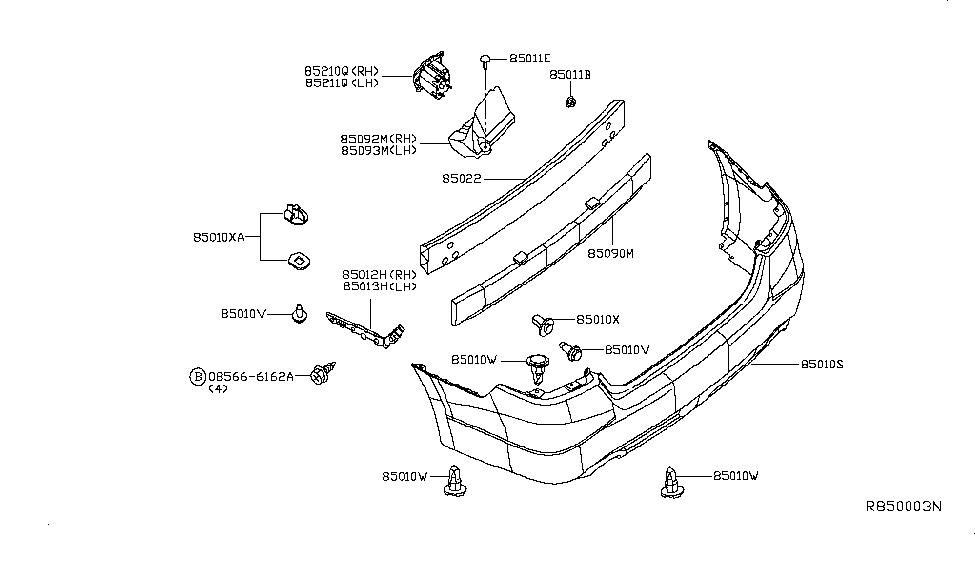 2013 nissan altima parts diagram 2013 nissan altima sedan rear bumper - nissan parts deal 2013 nissan altima wiring diagram air conditioning #2