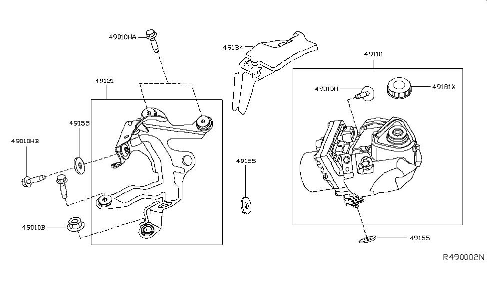 2013 Nissan Altima Sedan Power Steering Pump