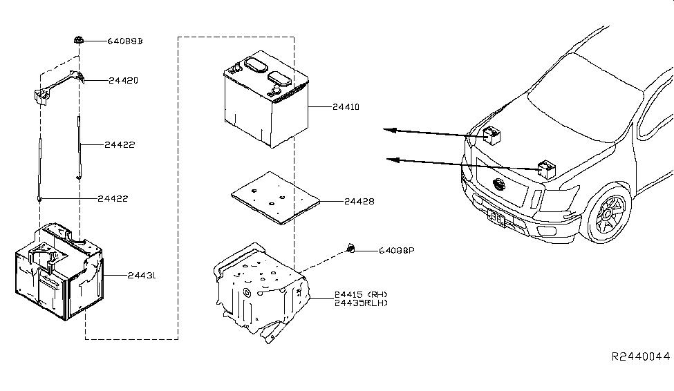 24410-zz50b | genuine nissan #24410zz50b battery nissan battery diagram