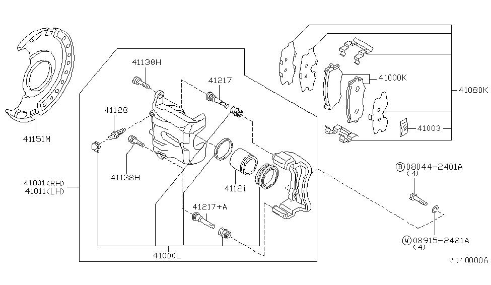 41011-4Z310 - Genuine Nissan Parts