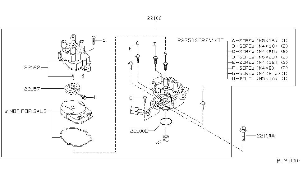 22100-9E001 | Genuine Nissan #22100-9E001 DISTRIBUTOR ASY