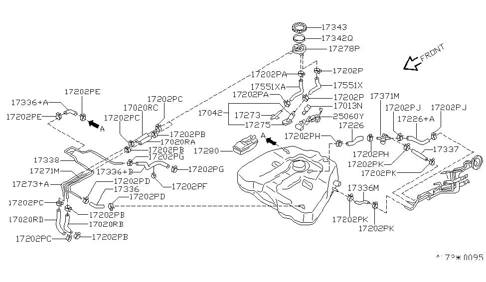 25060 9e003 Genuine Nissan 250609e003 Sender Unit Fuel