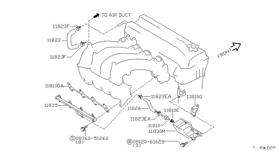 2000 nissan altima crankcase ventilation - thumbnail 1