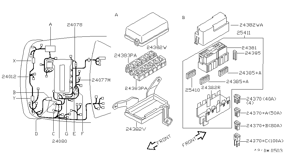 2001 nissan altima wiring nissan parts deal rh nissanpartsdeal com  2001 nissan altima alternator wiring diagram