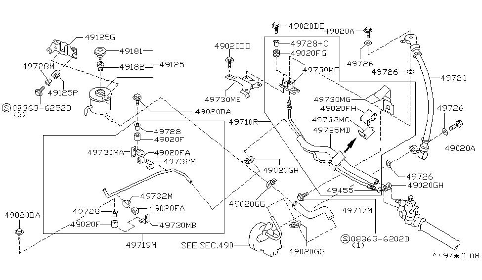 2001 Nissan Maxima Power Steering Hose Diagram