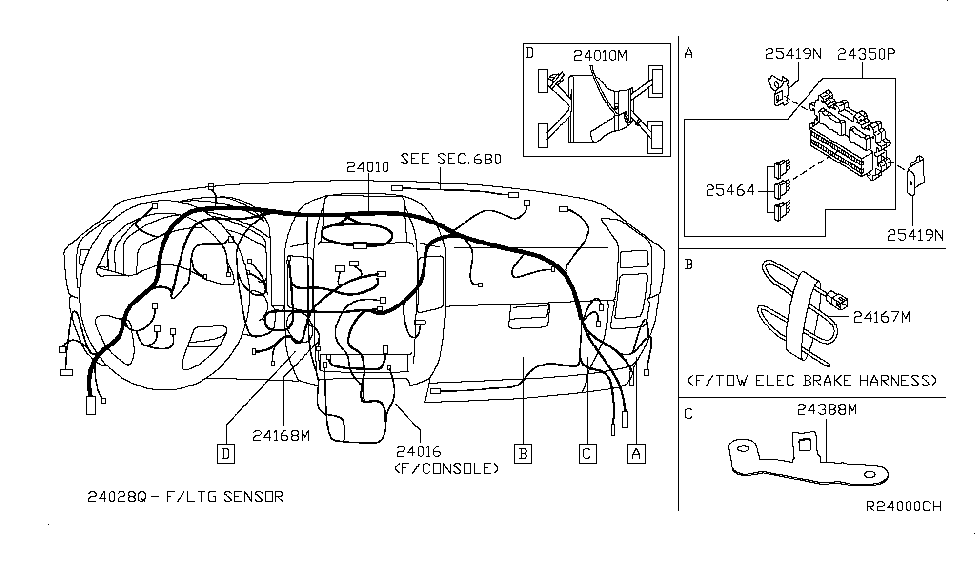 nissan 24167 zh00a Wire Harness For 2004 Nissan Titan nissan titan wire harness wiring diagram