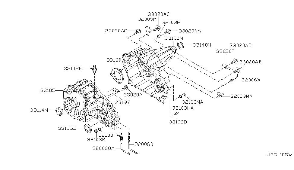 2004 nissan titan front differential diagram