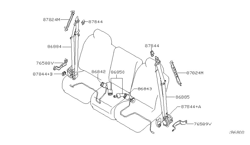 2006 Nissan Titan Front Seat Belt Nissan Parts Deal