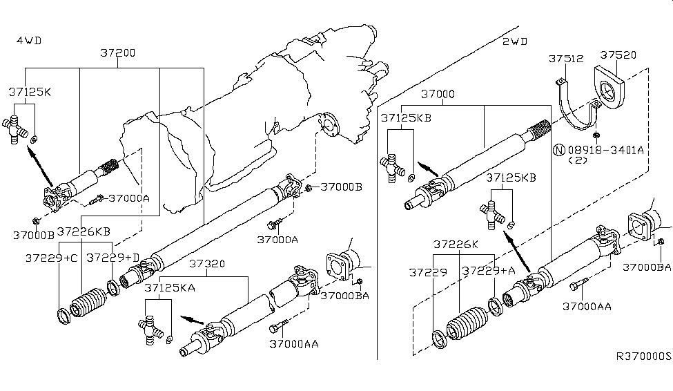 2005 Nissan Titan Propeller Shaft - Nissan Parts Deal