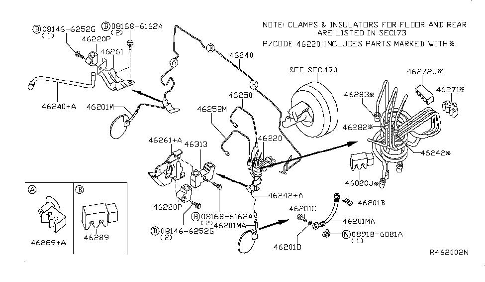 2005 Nissan Titan Brake Piping & Control - Nissan Parts Deal
