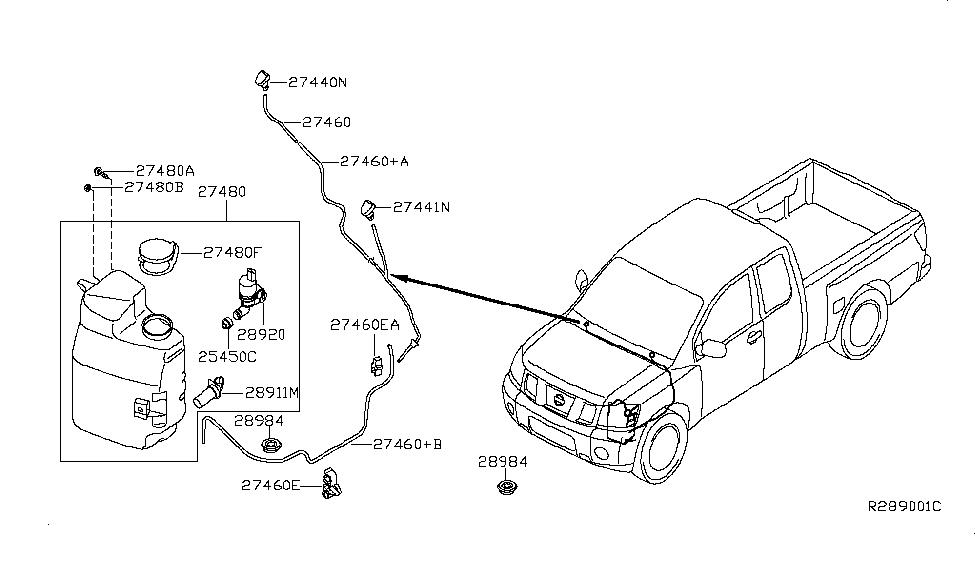 2008 Nissan Titan Windshield Washer - Nissan Parts Deal