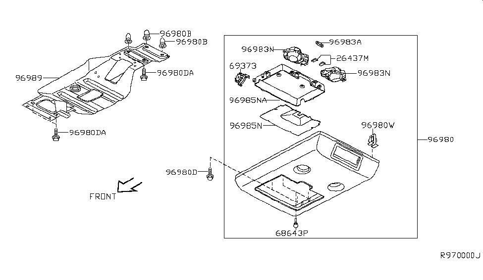 2010 Nissan Titan Roof Console - Nissan Parts Deal