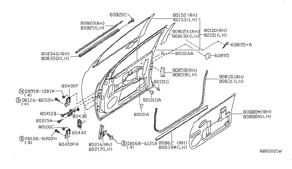 2008 Nissan Titan Front Door Panel & Fitting - Nissan Parts Deal